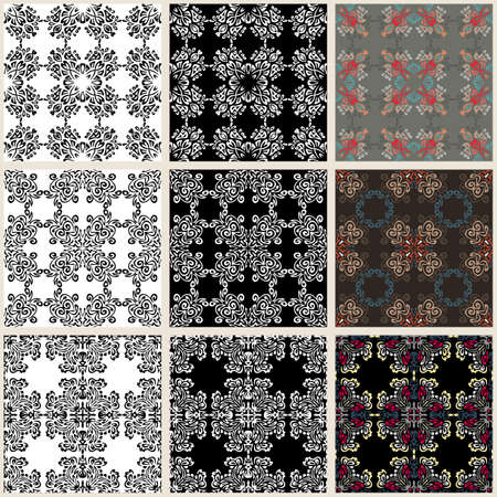 exotic: Collection of seamless backgrounds on the topic of exotic patterns