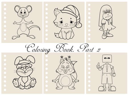 anonym: Collection of coloring book illustrations. Part 2