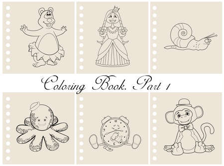 yawn: Collection of coloring book illustrations. Part 1 Illustration