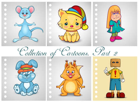 anonym: Collection of different cartoons. Part 2 Illustration