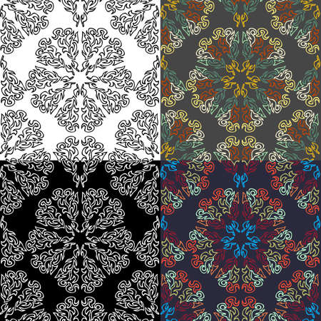 exotic: Collection of seamless colorful exotic patterns