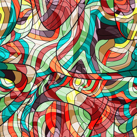 curved lines: Seamless colorful background with curved lines