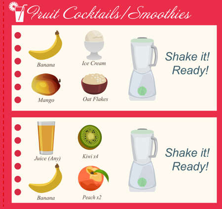 oat: Recipe of Fruit Cocktails, Smoothies Illustration