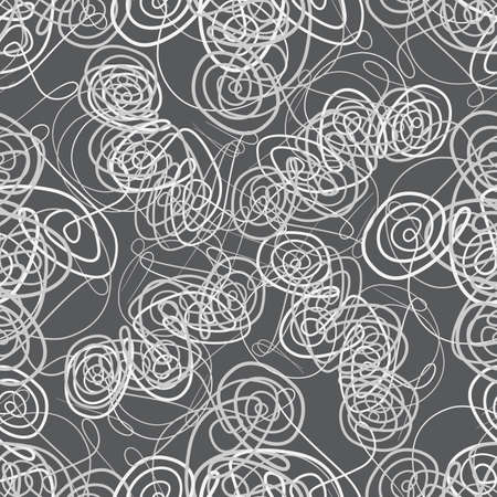 Seamless Background with tangle doodle patterns Illustration