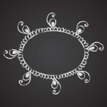 ahogarse: Cap�tulo con los elementos que imitan la mano ahoga tiza en el pizarr�n negro