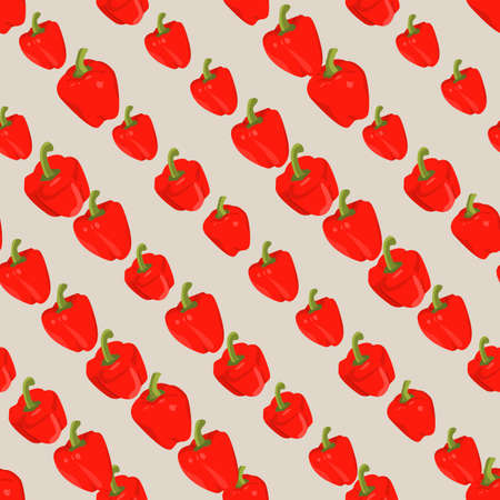 diagonally: Seamless colorful background with red peppers placed diagonally
