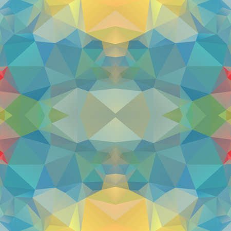 Seamless Background with abstract fractal pattern made of colorful geometric shapes