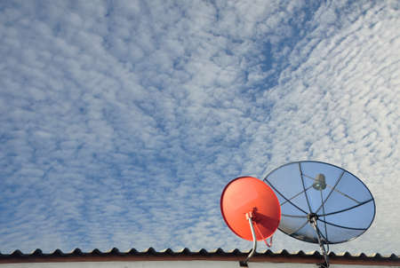 impart: The Satellite communication on the deck and sky background