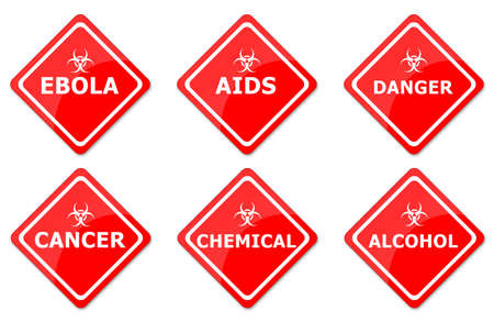 Warning Signs Set Created For Mobile, Web And Applications