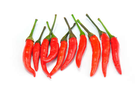admixture: Red Chilly on White background