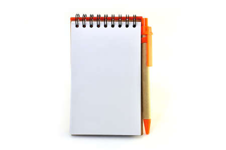 Vertical Notepad On white Background photo