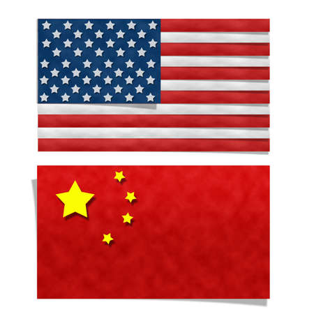 verenigde staten vlag: Papier kunst, verenigde staten vlag en de vlag van China