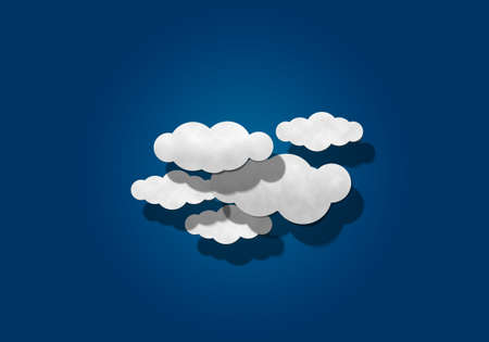 papaer: Cloud on Blue Background Stock Photo