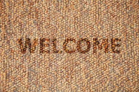 welcome mat: Mat Wooden Texture Background Stock Photo