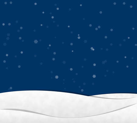 Snow in night Sky , Paper Cut