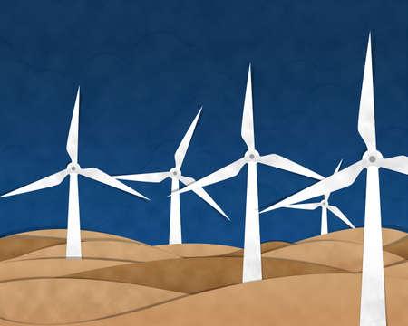 weathercock: Turbine Cutting Paste Paper