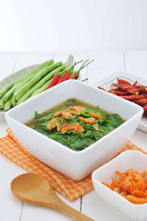 thinness: curry vegetable on white dish, Thai food.