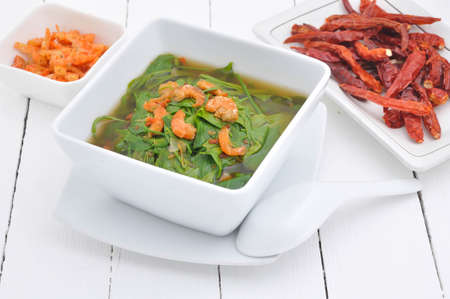 food dish: curry vegetable on white dish, Thai food.
