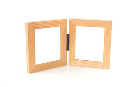 doublet: couple picture frame on isolated white background.