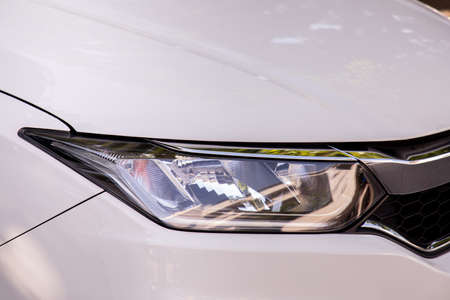 headlight of car, View from front Grille car.