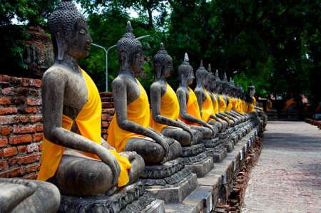 ayuthaya: Buddhas in Ayuthaya Stock Photo