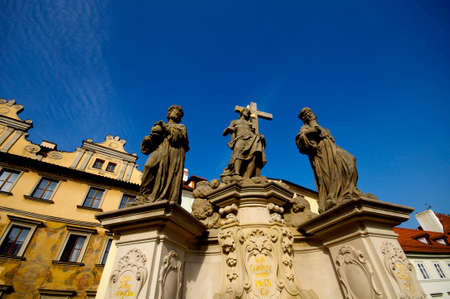 saints: Three Saints on a bridge