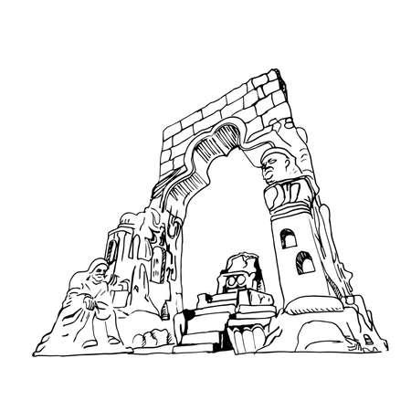 Duhok monument vector