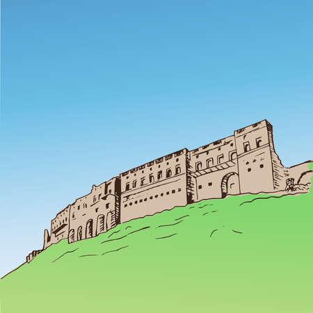 Erbil citadel Kurdistan of Iraq