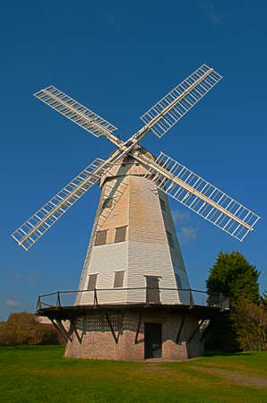 An old smock windmill at Upminster, Essex, England 스톡 콘텐츠