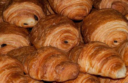 Croissants Pain au Chocolat Banque d'images - 91080448