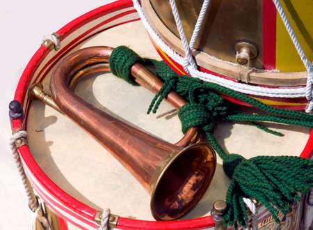 Une armée britannique du vent et tambour Banque d'images - 91081199