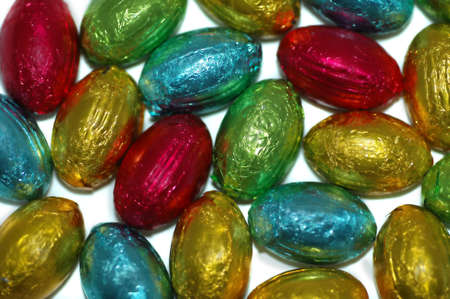 A mass of colourful Easter eggs Stock Photo