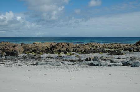 A beautiful beach scene on the scottish isle of Tiree