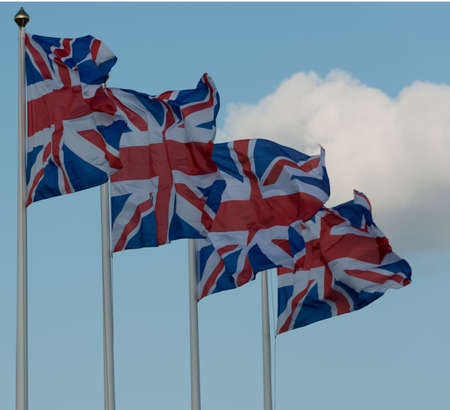 Four Union Flags of United Kingdom