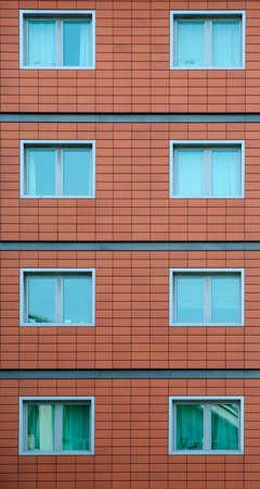 Section of a modern brick building 版權商用圖片