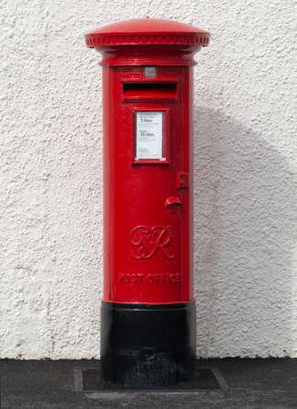 British Red Pillar Box 版權商用圖片