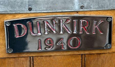 Dunkirk Boat Plaque 版權商用圖片