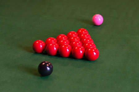 Snooker Balls set for play Banque d'images