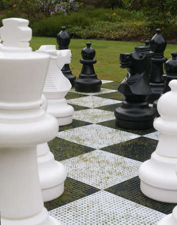 Giant Chess Set 版權商用圖片