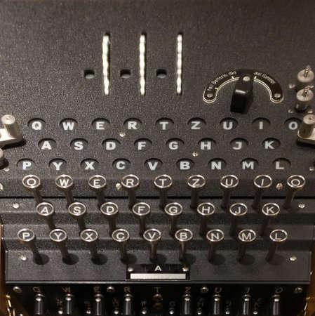Enigma Machine - Close Up Фото со стока