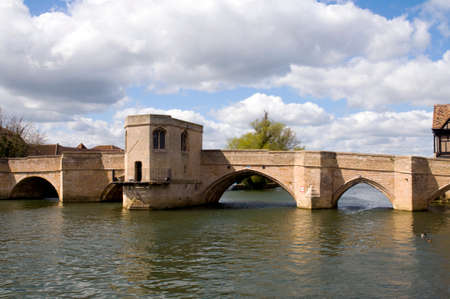 Old bridge over the River Great Ouse at St Ives, Cambridgeshire