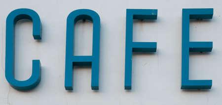 Art Deco Cafe Sign