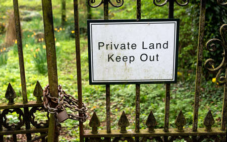 Private Land - Keep Out sign
