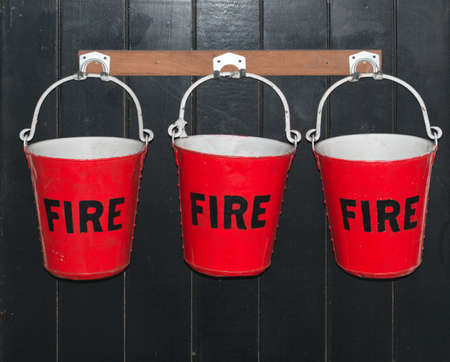 Fire Buckets hanging on a wall
