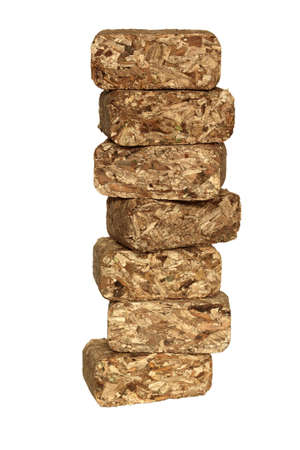 Stacking chips briquettes