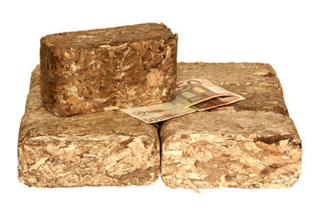 Expensive wood briquettes