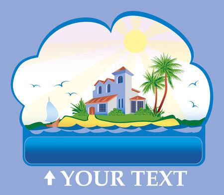 House on a tropical island