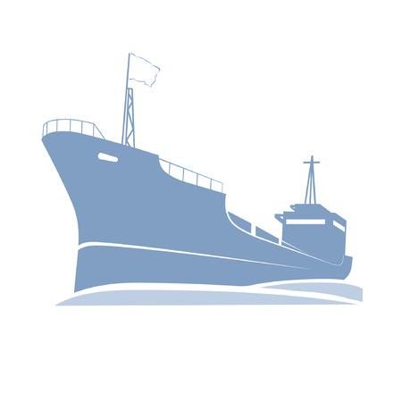 Ship in the sea Stock Vector - 4879909