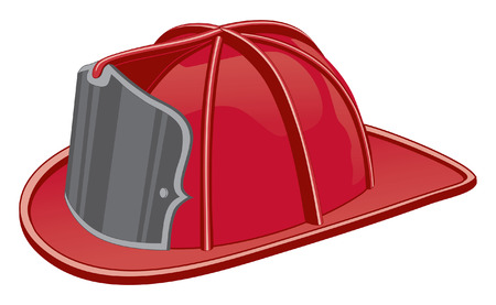Firefighter Helmet is three color art can be easily edited or separated for print or screen print. Иллюстрация