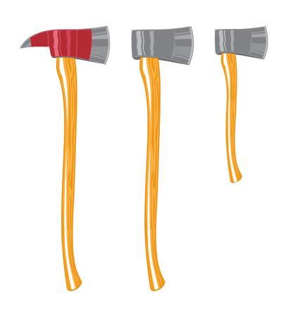 De bijl van de brandbestrijder, standaardbijl en houthakkersbijl is een gemakkelijk uit te geven en afzonderlijke illustratie.